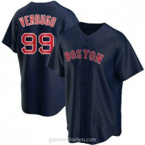 Youth Alex Verdugo Boston Red Sox #99 Authentic Navy Alternate A592 Jersey