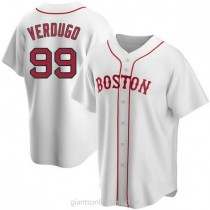 Youth Alex Verdugo Boston Red Sox #99 Authentic White Alternate A592 Jersey