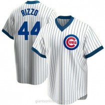 Youth Anthony Rizzo Chicago Cubs #44 Authentic White Home Cooperstown Collection A592 Jerseys