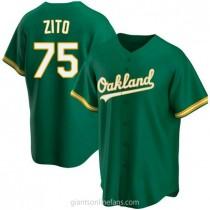 Youth Barry Zito Oakland Athletics #75 Authentic Green Kelly Alternate A592 Jerseys
