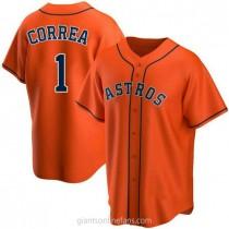 Youth Carlos Correa Houston Astros #1 Authentic Orange Alternate A592 Jersey