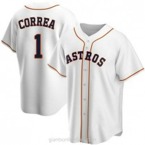 Youth Carlos Correa Houston Astros #1 Authentic White Home A592 Jersey