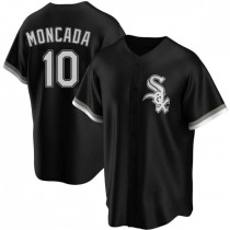 Youth Chicago White Sox #10 Yoan Moncada Authentic Black Alternate Jersey