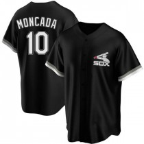 Youth Chicago White Sox #10 Yoan Moncada Replica Black Spring Training Jersey