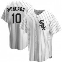 Youth Chicago White Sox #10 Yoan Moncada Replica White Home Jersey