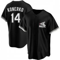 Youth Chicago White Sox #14 Paul Konerko Authentic Black Spring Training Jersey