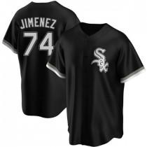Youth Chicago White Sox #74 Eloy Jimenez Replica Black Alternate Jersey