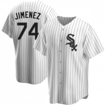 Youth Chicago White Sox #74 Eloy Jimenez Replica White Home Jersey