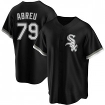 Youth Chicago White Sox #79 Jose Abreu Authentic Black Alternate Jersey