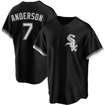 Youth Chicago White Sox #7 Tim Anderson Replica Black Alternate Jersey