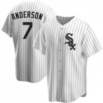 Youth Chicago White Sox #7 Tim Anderson Replica White Home Jersey