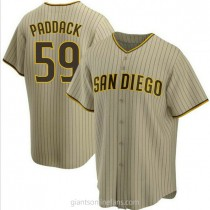 Youth Chris Paddack San Diego Padres #59 Replica Brown Sand Alternate A592 Jerseys