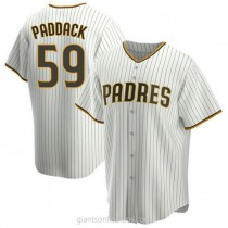 Youth Chris Paddack San Diego Padres #59 Replica White Brown Home A592 Jerseys