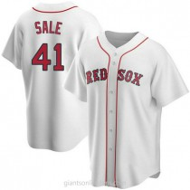 Youth Chris Sale Boston Red Sox #41 Replica White Home A592 Jerseys