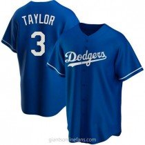 Youth Chris Taylor Los Angeles Dodgers #3 Authentic Royal Alternate A592 Jersey