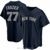 Youth Clint Frazier New York Yankees #77 Authentic Navy Alternate A592 Jersey