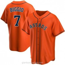 Youth Craig Biggio Houston Astros #7 Authentic Orange Alternate A592 Jersey