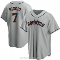 Youth Craig Biggio Houston Astros #7 Replica Gray Road A592 Jersey