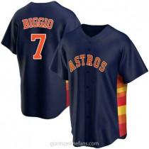 Youth Craig Biggio Houston Astros #7 Replica Navy Alternate A592 Jersey
