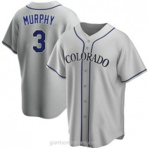 Youth Dale Murphy Colorado Rockies #3 Authentic Gray Road A592 Jerseys