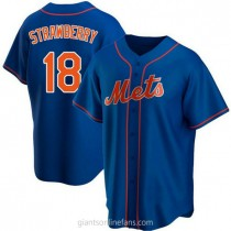 Youth Darryl Strawberry New York Mets #18 Authentic Royal Alternate A592 Jersey
