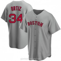 Youth David Ortiz Boston Red Sox #34 Authentic Gray Road A592 Jersey