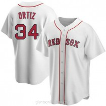 Youth David Ortiz Boston Red Sox #34 Authentic White Home A592 Jersey