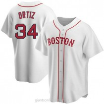 Youth David Ortiz Boston Red Sox Replica White Alternate A592 Jersey