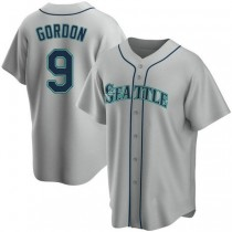 Youth Dee Gordon Seattle Mariners #9 Replica Gray Road A592 Jersey