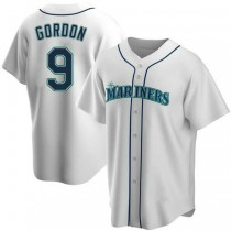 Youth Dee Gordon Seattle Mariners #9 Replica White Home A592 Jersey
