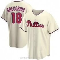 Youth Didi Gregorius Philadelphia Phillies #18 Replica Cream Alternate A592 Jersey