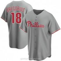 Youth Didi Gregorius Philadelphia Phillies #18 Replica Gray Road A592 Jerseys