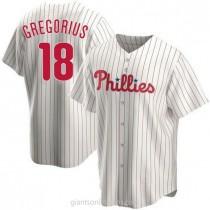 Youth Didi Gregorius Philadelphia Phillies #18 Replica White Home A592 Jersey