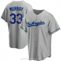 Youth Eddie Murray Los Angeles Dodgers #33 Replica Gray Road A592 Jersey