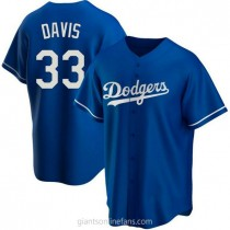 Youth Eric Davis Los Angeles Dodgers #33 Authentic Royal Alternate A592 Jersey