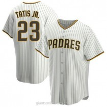 Youth Fernando Tatis Jr San Diego Padres #23 Authentic White Brown Home A592 Jersey