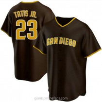 Youth Fernando Tatis Jr San Diego Padres Replica Brown Road A592 Jersey