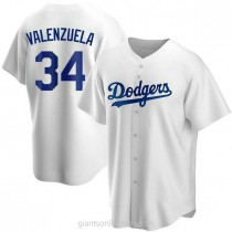 Youth Fernando Valenzuela Los Angeles Dodgers #34 Authentic White Home A592 Jersey