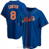 Youth Gary Carter New York Mets #8 Authentic Royal Alternate A592 Jersey