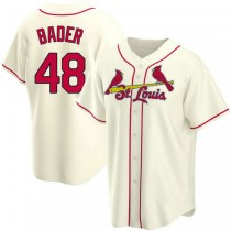 Youth Harrison Bader St Louis Cardinals #48 Cream Alternate A592 Jersey Authentic