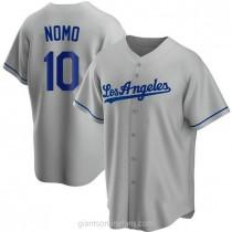 Youth Hideo Nomo Los Angeles Dodgers #10 Replica Gray Road A592 Jersey