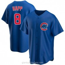 Youth Ian Happ Chicago Cubs #8 Authentic Royal Alternate A592 Jersey