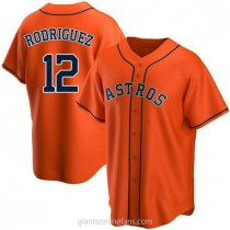 Youth Ivan Rodriguez Houston Astros #12 Replica Orange Alternate A592 Jerseys