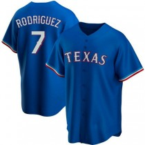 Youth Ivan Rodriguez Texas Rangers Authentic Royal Alternate A592 Jersey