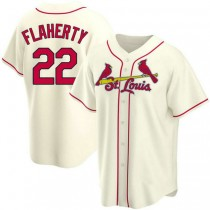 Youth Jack Flaherty St Louis Cardinals #22 Cream Alternate A592 Jersey Authentic