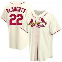 Youth Jack Flaherty St Louis Cardinals #22 Cream Alternate A592 Jerseys Replica