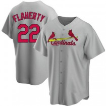 Youth Jack Flaherty St Louis Cardinals #22 Gray Road A592 Jersey Authentic