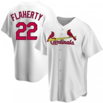 Youth Jack Flaherty St Louis Cardinals #22 White Home A592 Jersey Replica
