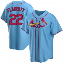 Youth Jack Flaherty St Louis Cardinals Light Blue Alternate A592 Jersey Replica