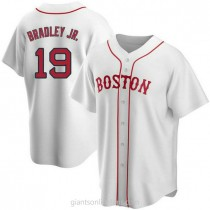 Youth Jackie Bradley Jr Boston Red Sox #19 Authentic White Alternate A592 Jersey